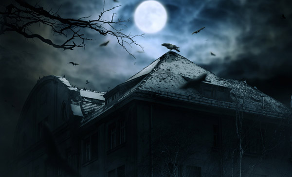 Create a Haunted House Scene with Photoshop
