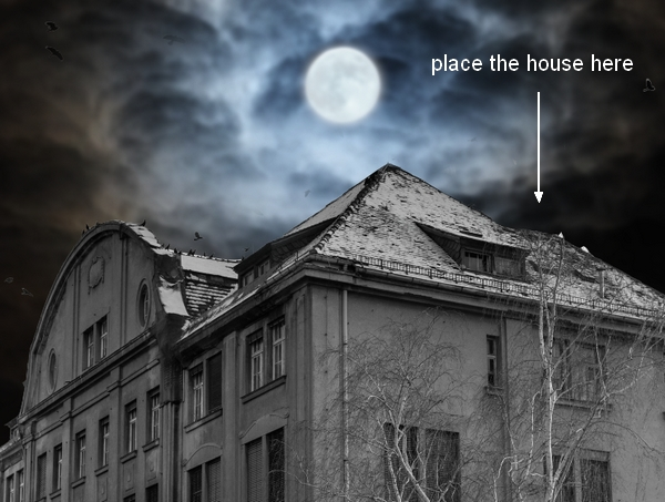 Create a Haunted House Scene with Photoshop 14