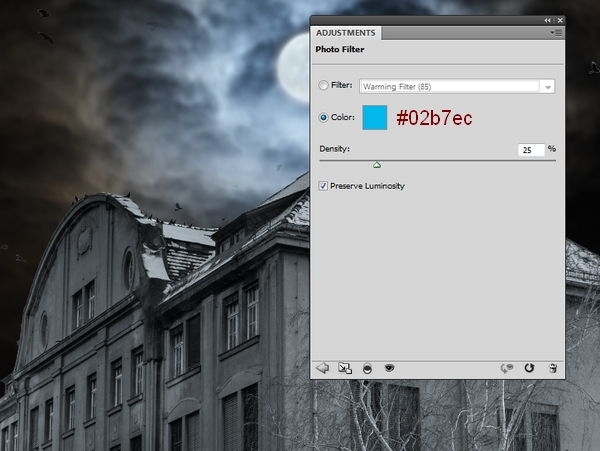 Create a Haunted House Scene with Photoshop 15