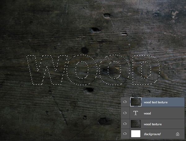 Create a Wood Text effect in Photoshop 5