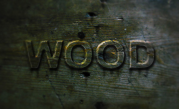 Create a Wood Text effect in Photoshop