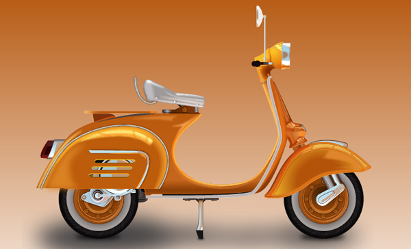 Create a Vespa in Adobe Illustrator